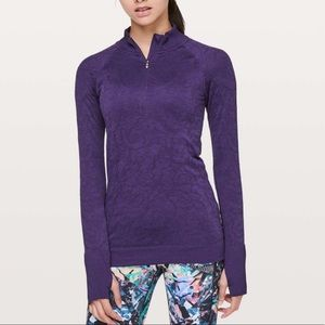 Lululemon Rest Less 1/2 Zip Pullover Purple Size 8